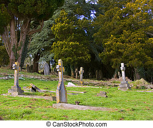 Stone crosses - Well kept graves with stone corsses in a...