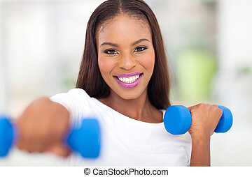 african woman working out