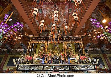Taoist Temple - Lantau Island - Hong Kong - Taoist temple on...