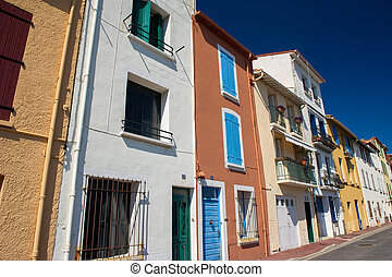Houses on quay in Port Vendres