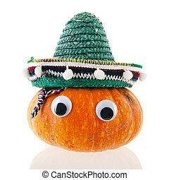 Spanish Funny pumpkin with eyes