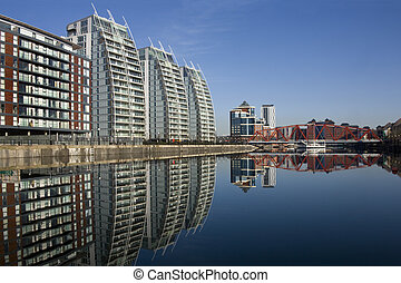 Salford Quays - Manchester - United Kingdom - Modern...