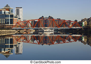 Salford Quays - Manchester - United Kingdom - Salford Quays...