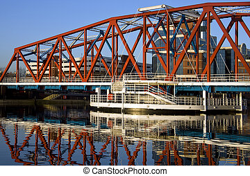 Salford Quays - United Kingdom - Salford Quays in Greater...