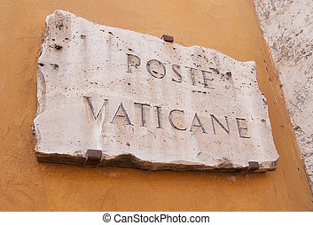 Sign at the Vatican Post Office