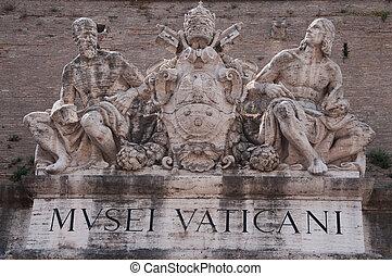 Vatican Museum Entrance Statues