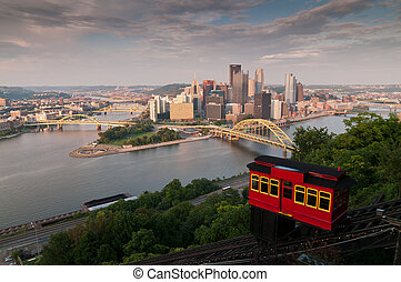 Pittsburgh Skyline with the Incline
