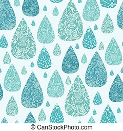 Rain drops textured seamless pattern background - Vector...