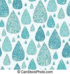 Rain drops textured seamless pattern background - Vector...