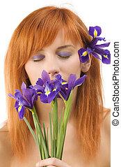 violet make up