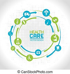 health care over gray background vector illustration