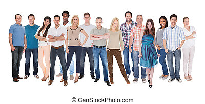 Group Of People Dressed In Casual - Happy Group Of People...