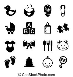 baby icons over white background vector illustration