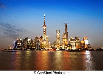The Bund in Shanghai at Night