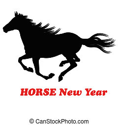 The New Year of the HorseFestive Christmas card
