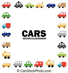 cars design over white background vector illustration