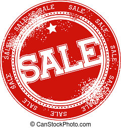sale grunge stamp vector