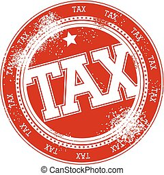 tax grunge stamp vector - tax grunge stamp isolated on white...