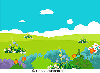 cartoon natural landscape