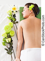 Young Woman In A Spa - Beautiful Young Woman Relaxing In A...