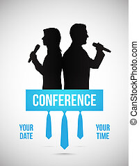 Conference illustration - Conference template illustration...