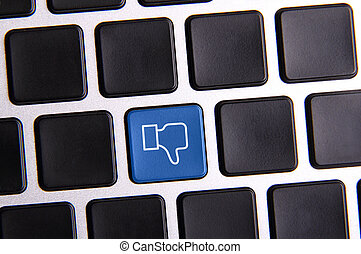 Social Media Key - Photo of social media key button on the...