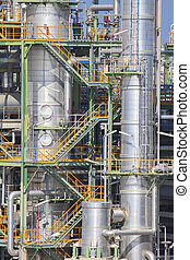 Industrial plant structure - Steel structure of industrial...