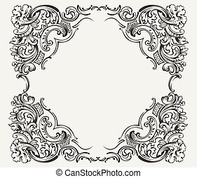 Old Vintage High Ornate Frame