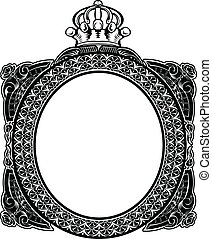 Decorative Royal Oval Vintage Frame
