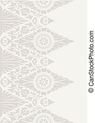 Classic floral wallpaper background pattern in white and beige