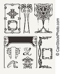 Set Of Vintag? Art Deco Design Elements