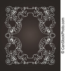 Ornate Frame On Dark Brown