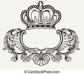 One Color Crown Crest Composition