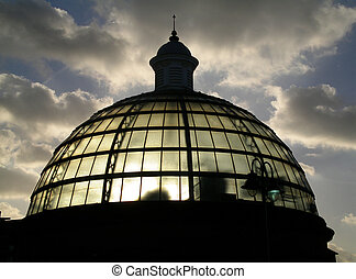 Greenwich Tunnel Dome - The dome of the southern end of the...