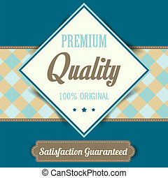 Premium Quality poster, retro vintage design