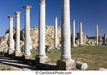 Ruins of Salamis - Turkish Republic of Northern Cyprus - The...
