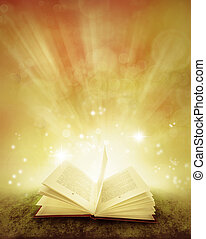 Book - Open book and magical background