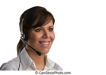 May I help you? - Woman with Head-Set
