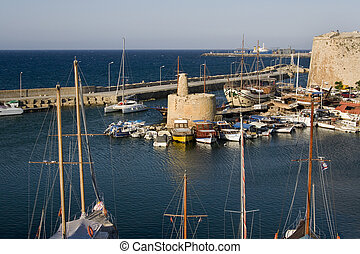 Kyrenia Harbor - Turkish Republic of Northern Cyprus -...