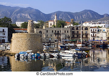 Kyrenia Harbour - Turkish Cyprus - Kyrenia Harbour in the...