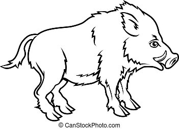 Stylised boar illustration - An illustration of a stylised...