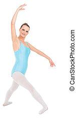 Content pretty ballerina  training