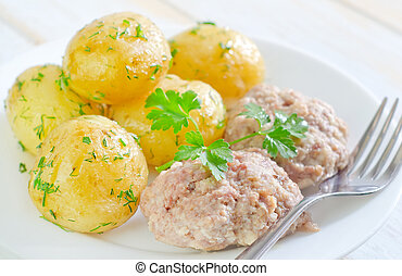 potato and cutlets