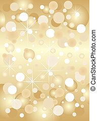 Bright golden christmas background