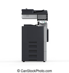 Office Multifunction Printer isolated on white background....