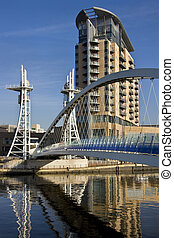 Millennium Bridge - Salford Quays - England - The Millennium...