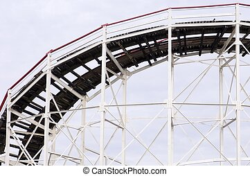 roller coaster - Cyclone Roller coaster in the Coney Island...