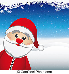 santa claus winter snow landscape