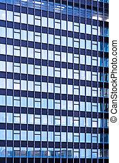 Blue glass facade