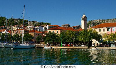Yachts in Skradin, Croatia - Yachts moored in Skradin...